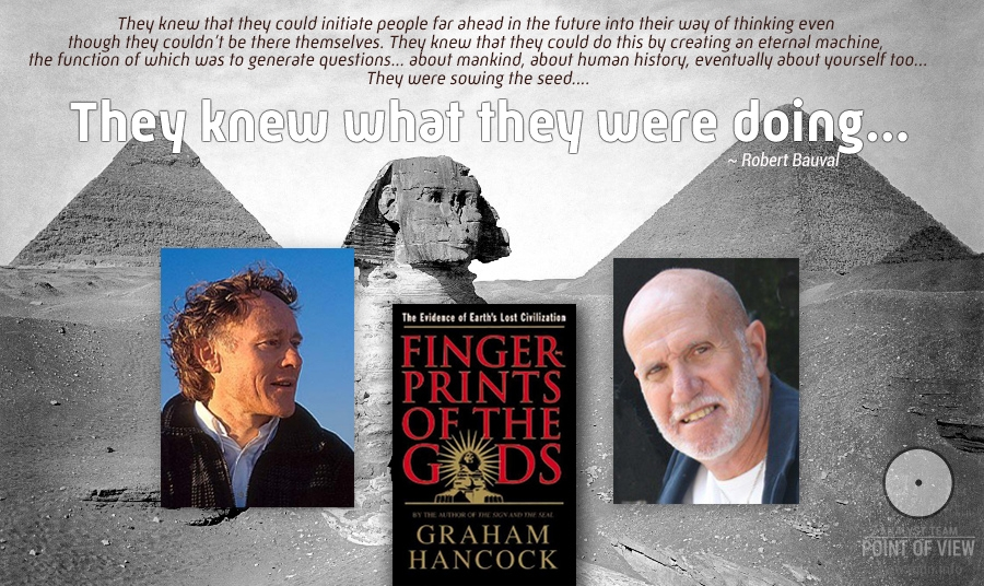 """They knew what they were doing…"" A conversation between G. Hancock and R. Bauval at the Pyramids of Giza"