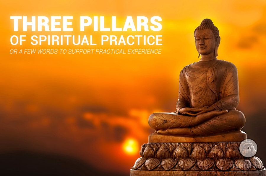 Three pillars of spiritual practice