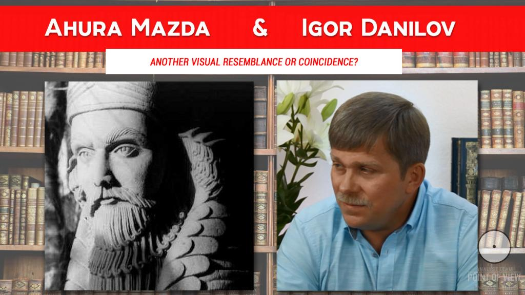 Another visual resemblance or coincidence? Ahura Mazda & Igor Danilov