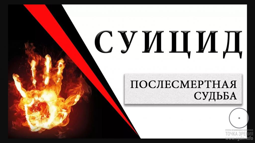 Суицид. Послесмертная судьба. Беседа с Игорем Михайловичем Даниловым.