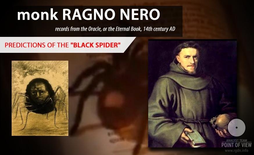 Predictions by monk Ragno Nero in the 14th century A.D.
