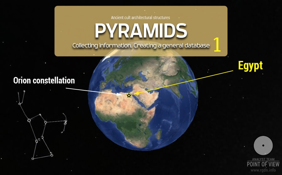 Pyramids of the world: Part 1. Egypt. The Orion constellation