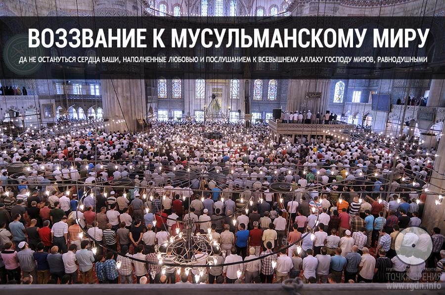 Воззвание к мусульманскому миру.