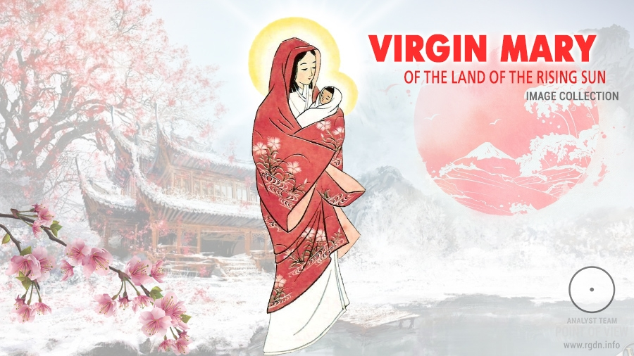Japanese Madonna. Virgin Mary of the Land of the Rising Sun