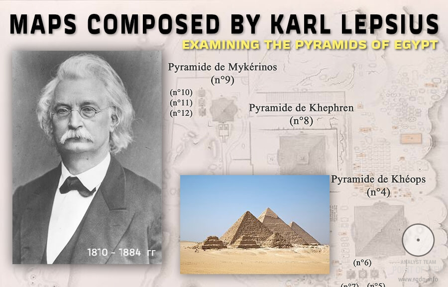Pyramids of the world: Egypt (continued). Maps composed by Karl Lepsius