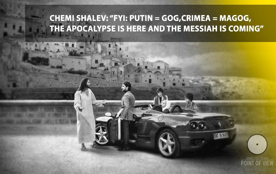 "Chemi Shalev: ""FYI: Putin = Gog, Crimea = Magog, the Apocalypse is here and the Messiah is coming"""