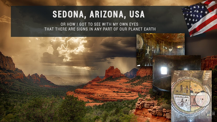 Sedona, Arizona, USA. Signs all over the world