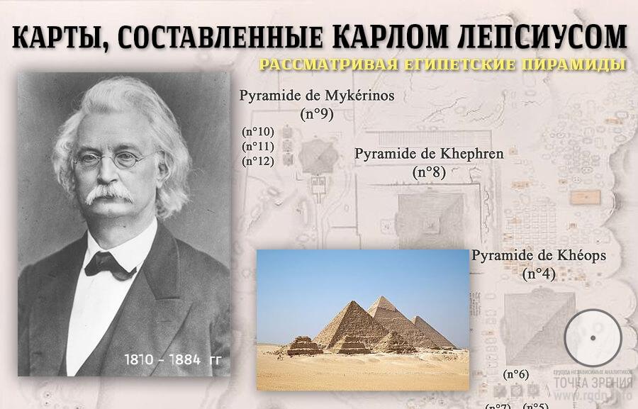 Пирамиды мира. Египет, продолжение. Карты, составленные Карлом Лепсиусом.