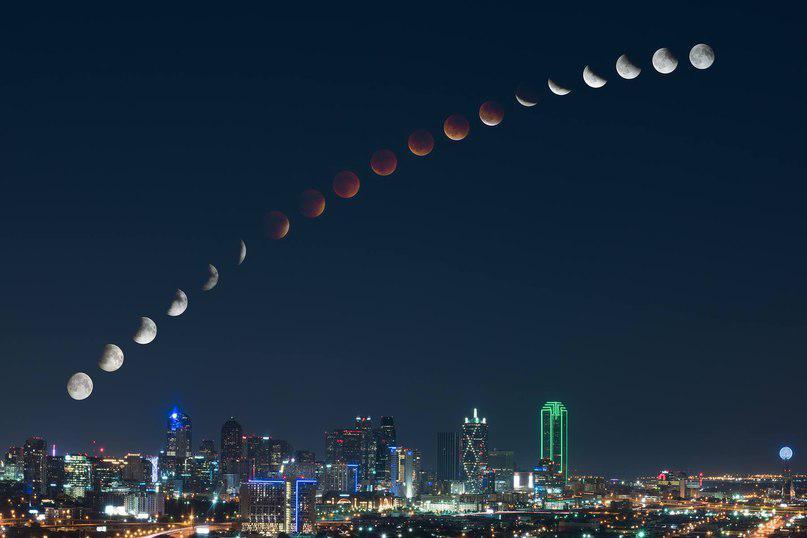 Лунное затмение в разных странах мира ( 28.09.2015)
