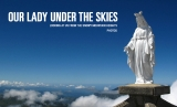 Our Lady under the skies. Figurines in the mountains