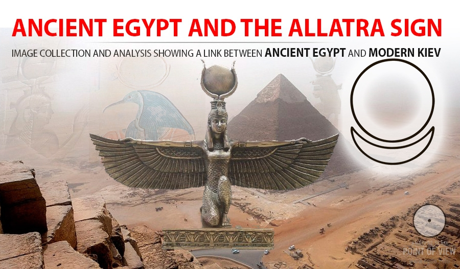 Ancient Egypt and the AllatRa sign – a circle and a crescent. Image collection and analysis