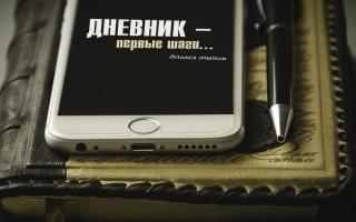 Дневник – первые шаги…