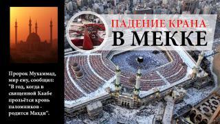 Падение крана в Мекке. Предсказания исламских хадисов о приходе Имама Махди.