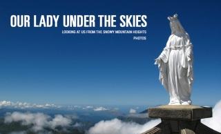 Дева Мария. Статуэтки в горах.