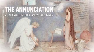 Благовещение. Архангел Гавриил и Дева Мария.