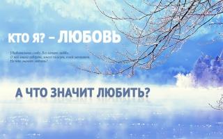 Кто я? – Любовь. А что значит любить?