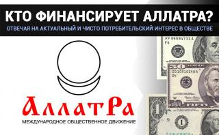 Видео. Кто финансирует МОД АЛЛАТРА?