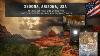 Седона, Аризона, США. Знаки по всему миру.
