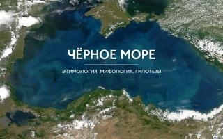 Чёрное море. Этимология и мифология.
