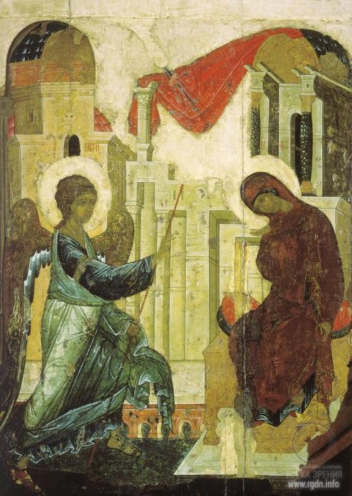 Icon by the famous icon painter Andrei Rublev
