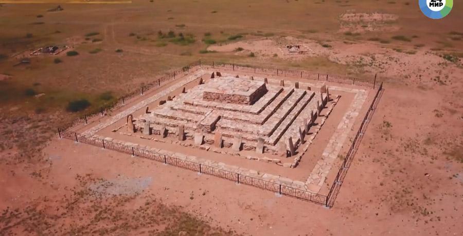 Бегазинская пирамида после реставрации