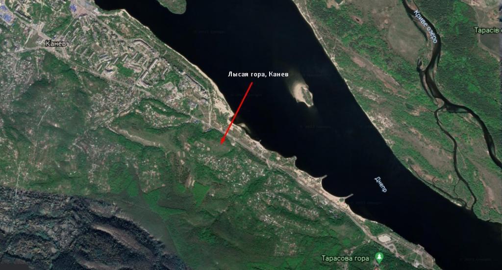 Карта, Лысая гора, Канев
