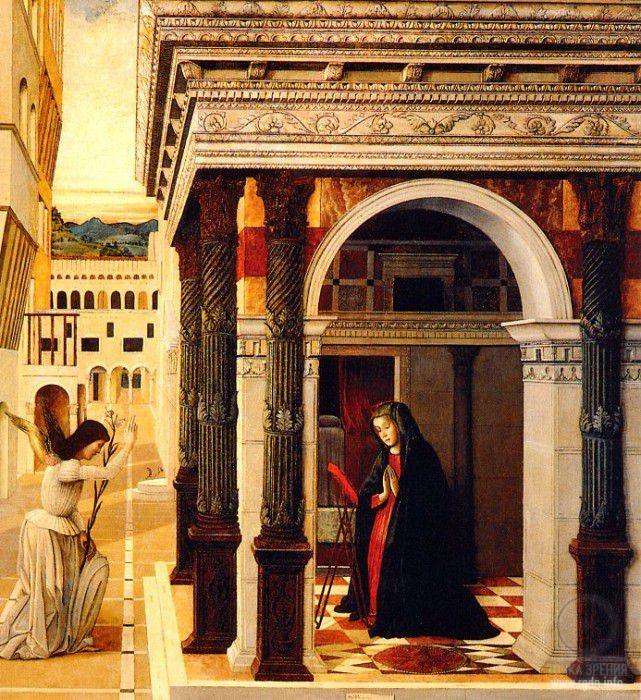 Gentile Bellini. The Annunciation (1465)