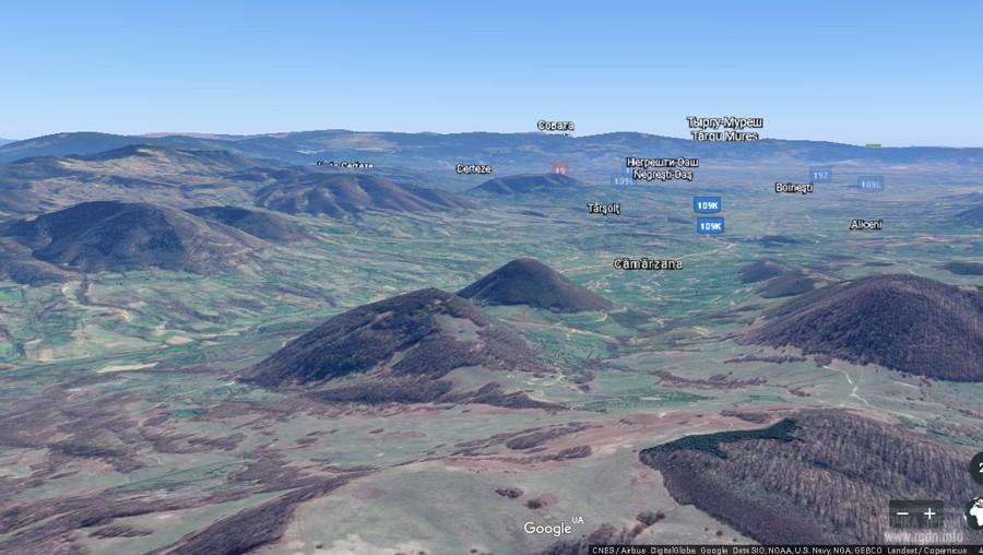 конусообразные холмы на территории Румынии