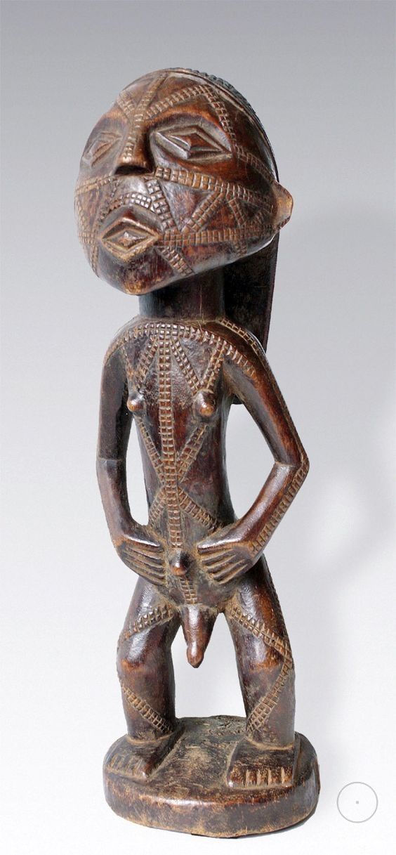 Africa  Carved wood figure from the Tabwa people of southeastern Congo