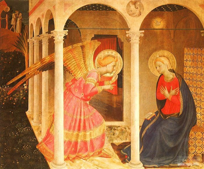 Beato Giovanni da Fiesole Angelico. The Annunciation (1432-1443), Diocesan Museum, Cortona