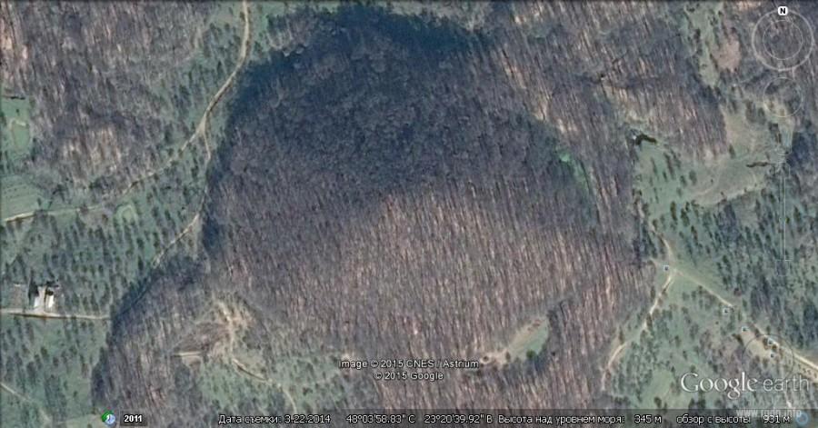 пирамидальная гора, Шаян