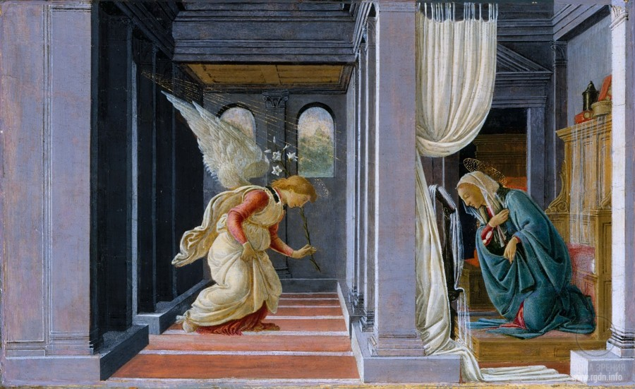 Sandro Botticelli. The Annunciation (circa 1485) (Metropolitan Museum of Art, New York)