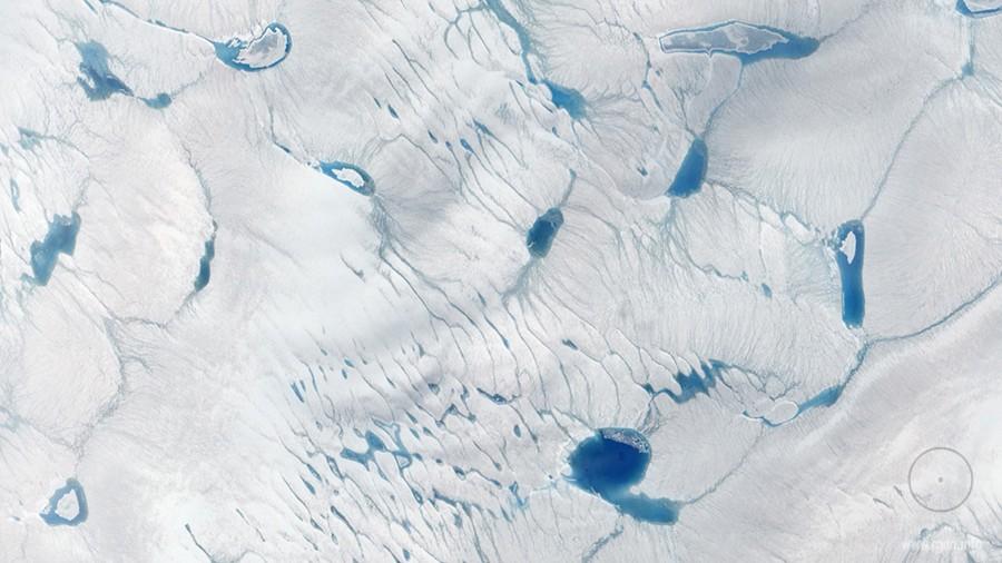 Таяние снегов в Гренландии, июнь 2016 г.