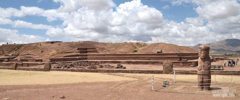 пирамида Акапана и Тиуанако