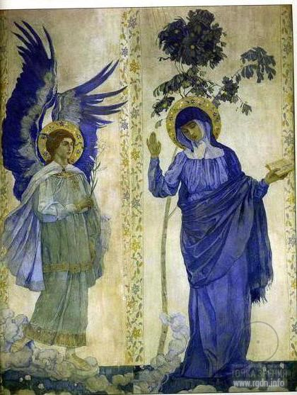 Mikhail Nesterov. The Annunciation. Virgin Mary (1910-1911)