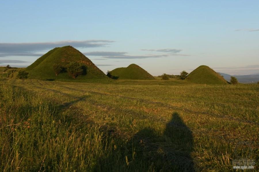 пирамиды Румынии около Сона