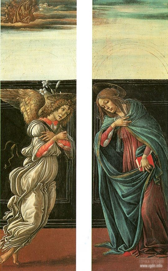 Sandro Botticelli. The Annunciation (1495-1498) (Pushkin State Museum of Fine Arts, Moscow)