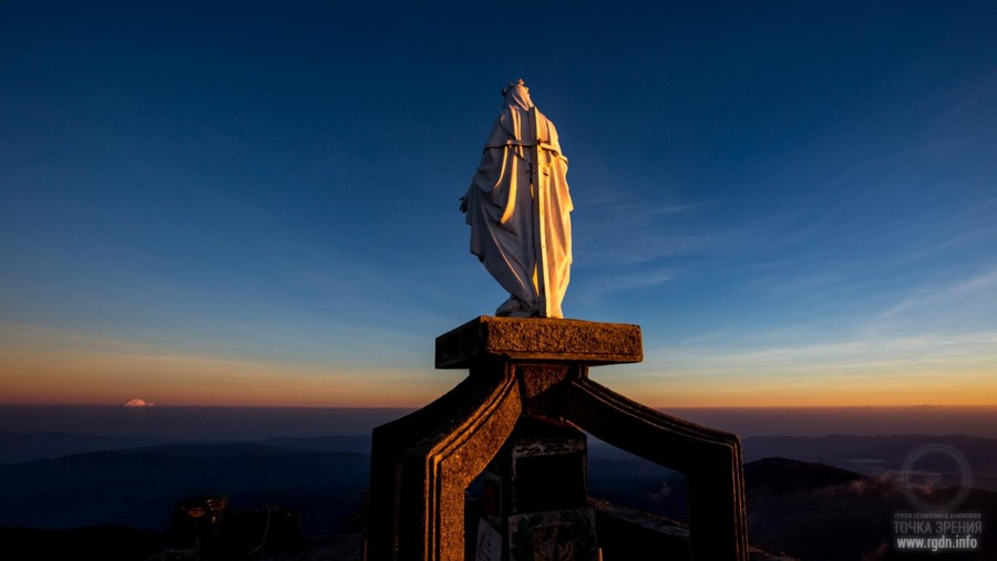 Virgin Mary statue on Timor, Indonesia