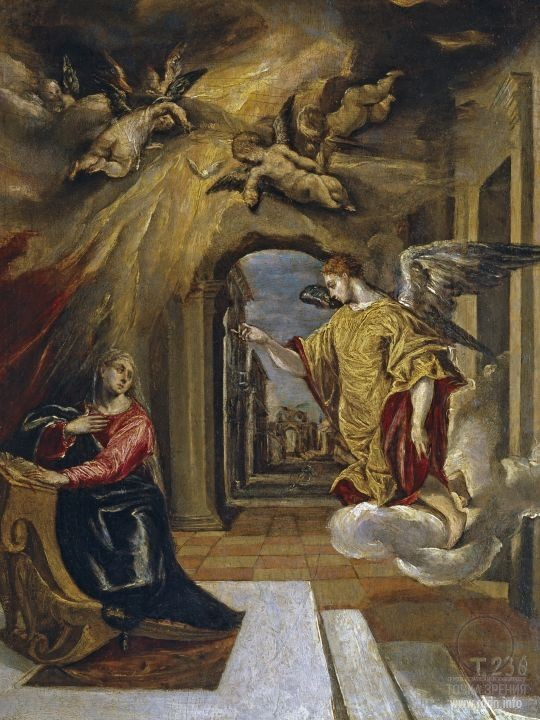 El Greco. The Annunciation (1576) (Prado Museum, Madrid)