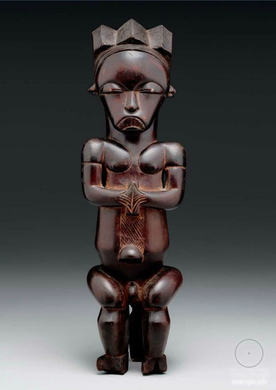 Africa  Reliquary guardian figure from the Fang people Mvai group from Ntem region Gabon  ca1800 - 1860