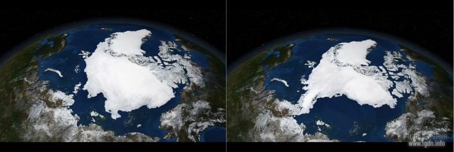 Гренландия, вид из космоса