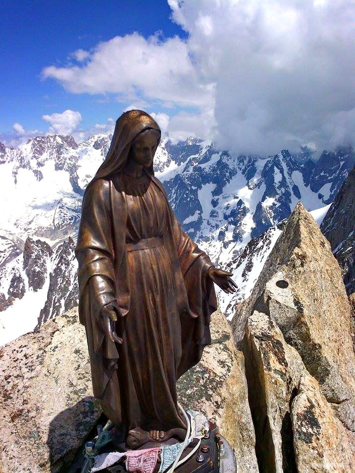 Virgin Mary figurine in the Alps