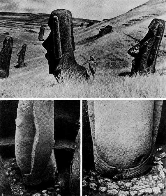 Easter Island, artefacts, statues, pictures