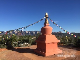 Buddhist stupa in Sedona, USA