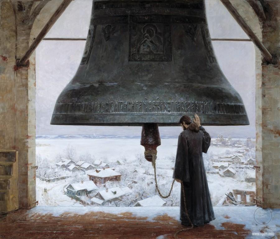 колокол и монах