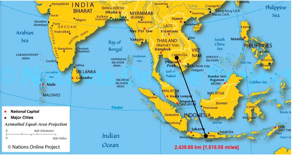 расстояние от Ангкор-Вата до Боробудура