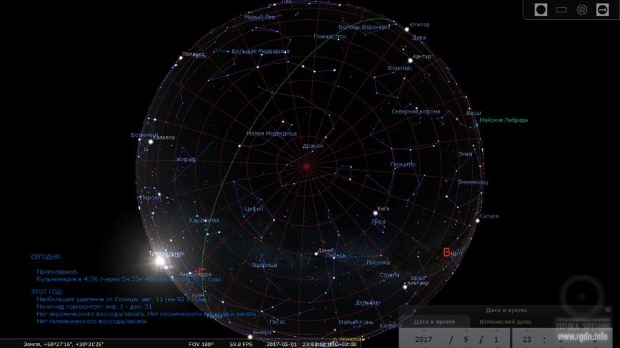карта звездного неба программа