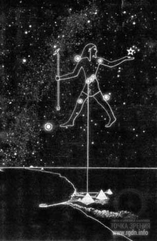 пирамиды Гиза и созвездие Ориона
