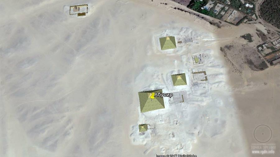 Абусир, карта, пирамиды