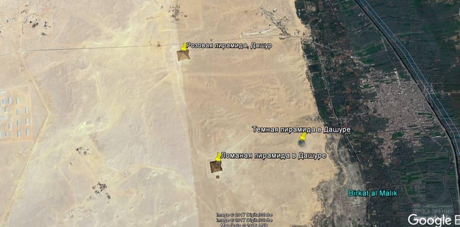 карта Темная пирамида в Дашуре